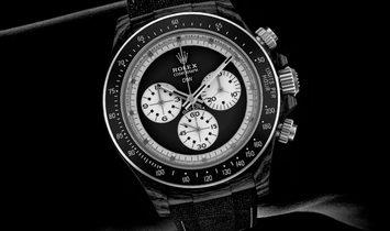 """Rolex DiW NTPT Carbon Daytona """"PAUL NEWMAN BLACK SC"""" (Retail: US$49,500)"""