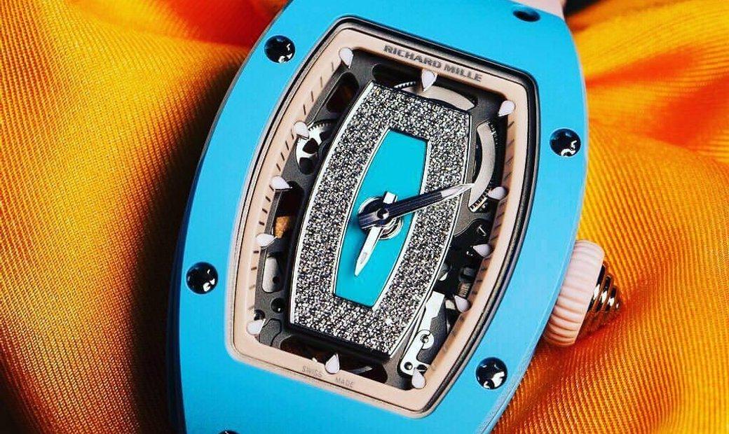 Richard Mille RM 07-01 Blue Ceramic Automatic Ladies Watch