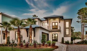 Newly Completed Coastal Contemporary Retreat In Gated Beach Community