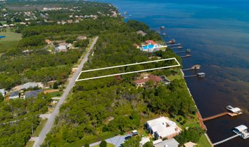 Over 100 Feet Of Bay Front Close To Beach Access