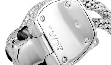 Cartier Cartier Panthère De Cartier 18K White Gold Diamond, Emerald and Onyx Panther Bracelet