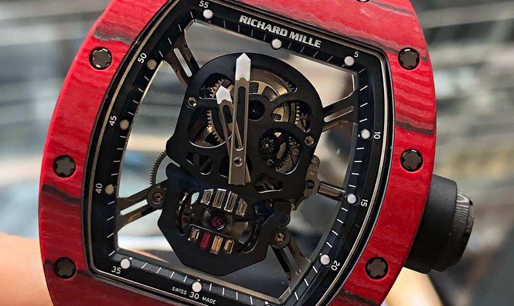 Richard Mille RM 52-01 Skull Red Quartz TPT Tourbillion