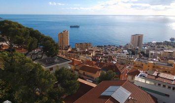 Contemporary villa above Monaco.