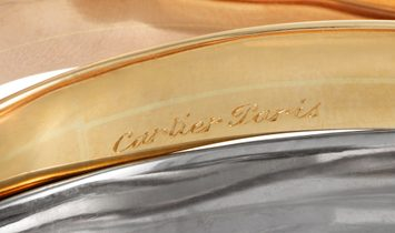 Cartier Cartier Trinity Large 18K White Yellow and Rose Gold Rolling Bangle Bracelet