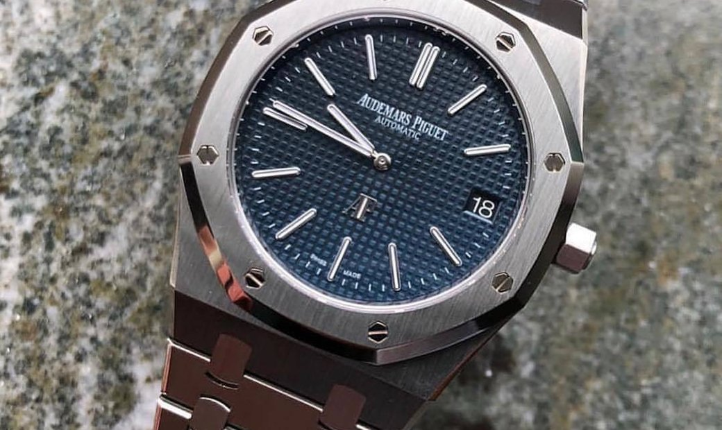 Audemars Piguet NEW Royal Oak Selfwinding Extra Thin 15202ST Blue Dial