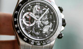 "Rolex NEW Artisans de Genève ""La Barrichello"" Daytona Skeleton 40mm Watch"