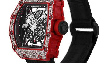 Richard Mille [2019 NEW] RM 35-02 Red Quartz-TPT Diamonds Watch