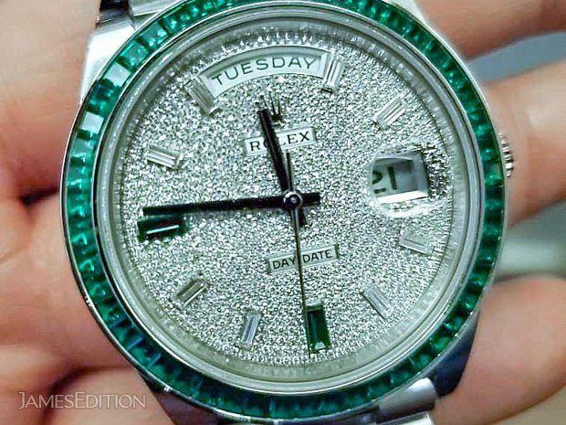 Rolex 228396TEM Day-Date 40mm Platinum Green Emerald (Ret... (10652275)