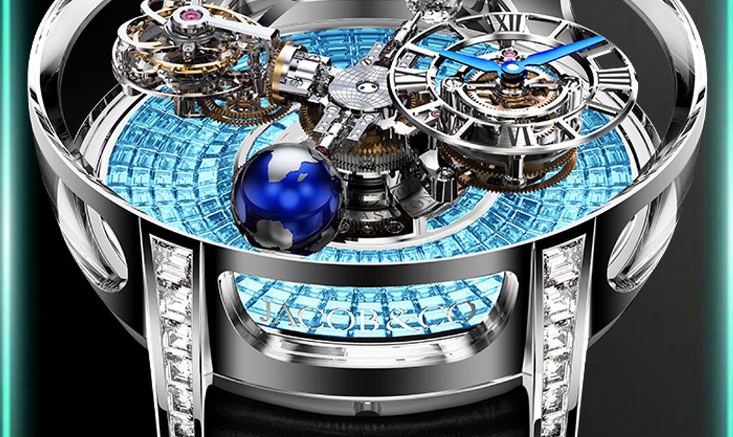 Jacob & Co. 捷克豹 [NEW] Astronomia Tourbillon Baguette AT800.30.BD.BI.B (Retail:HK$7,920,000)