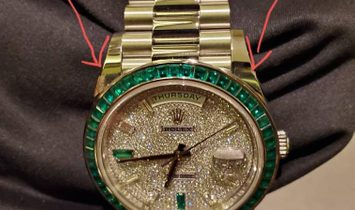 Rolex 228396TEM Day-Date 40mm Platinum Green Emerald (Retail:EUR 430.000)