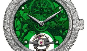 Jacob & Co. 捷克豹 Brilliant Skeleton Northern Lights Steel BS431.10.RD.QG.A (Retail:HK$558,400)