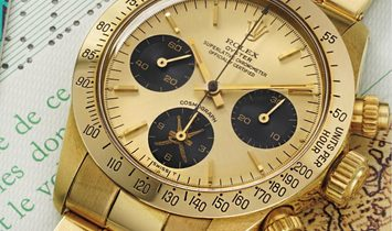 "Rolex Cosmograph Daytona 6265 ""Gold Khanjar"" Middle-East Edition with Original Rolex Paper"