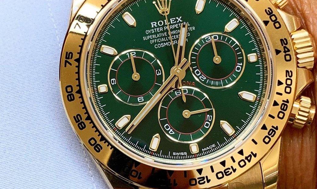 Rolex [NEW] Cosmograph Daytona 116508 Green Dial Yellow Gold Watch