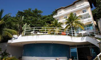 Mansion 9 floors, 11 suites, sea view, Peninsula in Guarujá