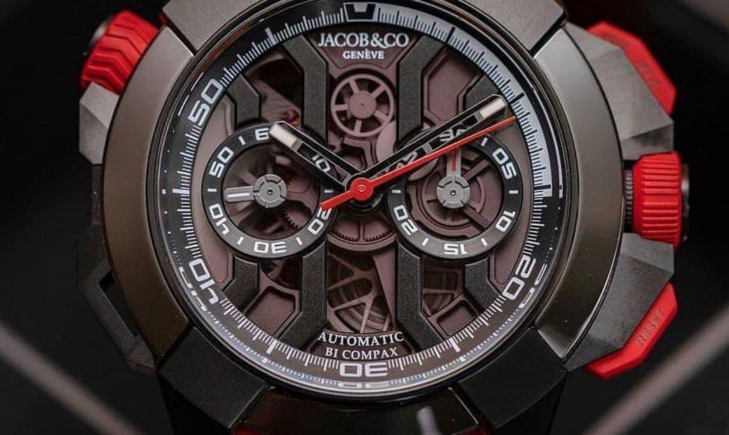 Jacob & Co. 捷克豹 [NEW] EPIC X Chrono Black Titanium EC313.21.SB.BB.B (Retail:HK$211,200)