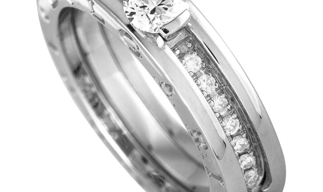 Bvlgari Bvlgari B.zero1 18K White Gold Diamond Ring