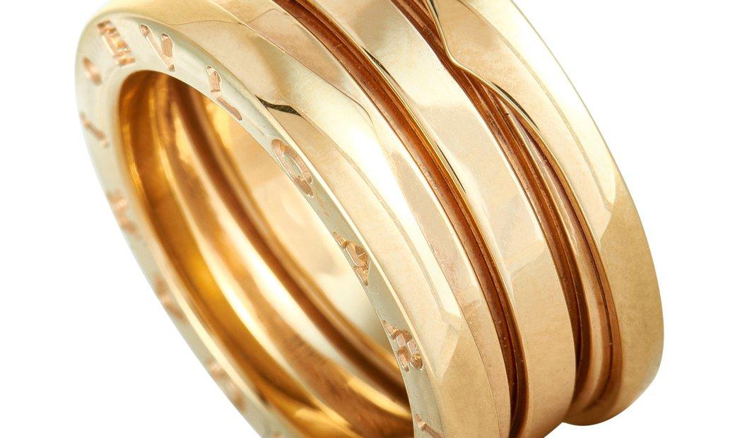Bvlgari Bvlgari B.zero1 18K Yellow Gold 3-Band Ring