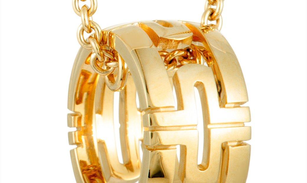 Bvlgari Bvlgari PARENTESI 18K Yellow Gold Small Round Pendant Necklace