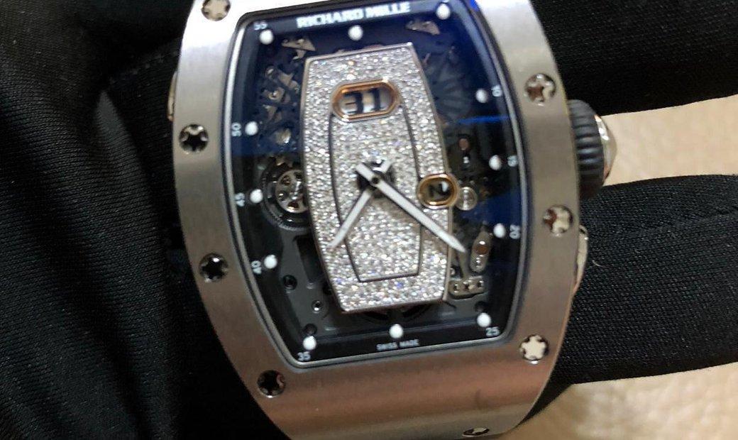 Richard Mille [NEW] RM 037 Titanium Diamond Centered Dial Automatic Ladies Watch