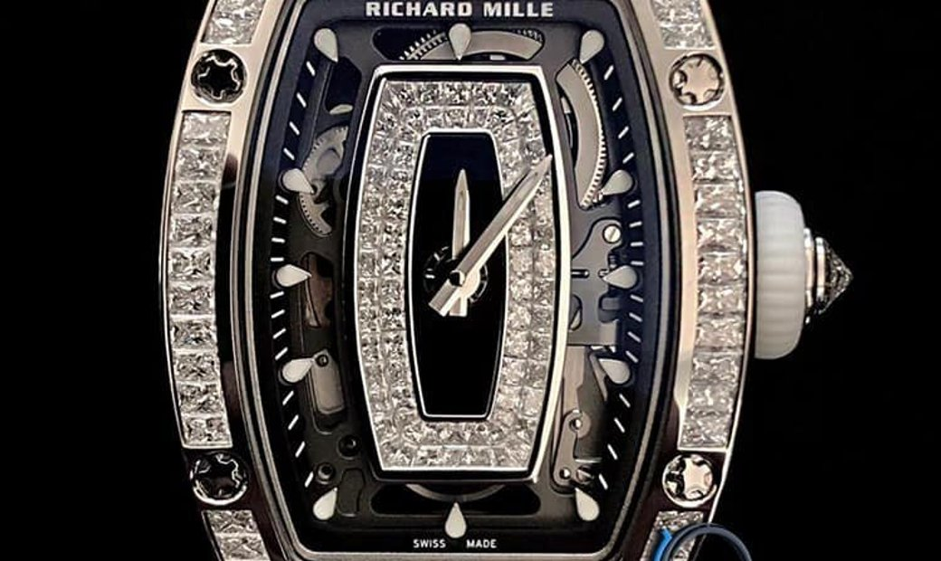 Richard Mille [NEW] RM 07-01 White Gold Full Set Baguette Ladies