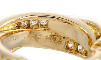 Cartier Cartier Trinity 18K Yellow Gold Diamond Pave Crisscross Clip-On Earrings