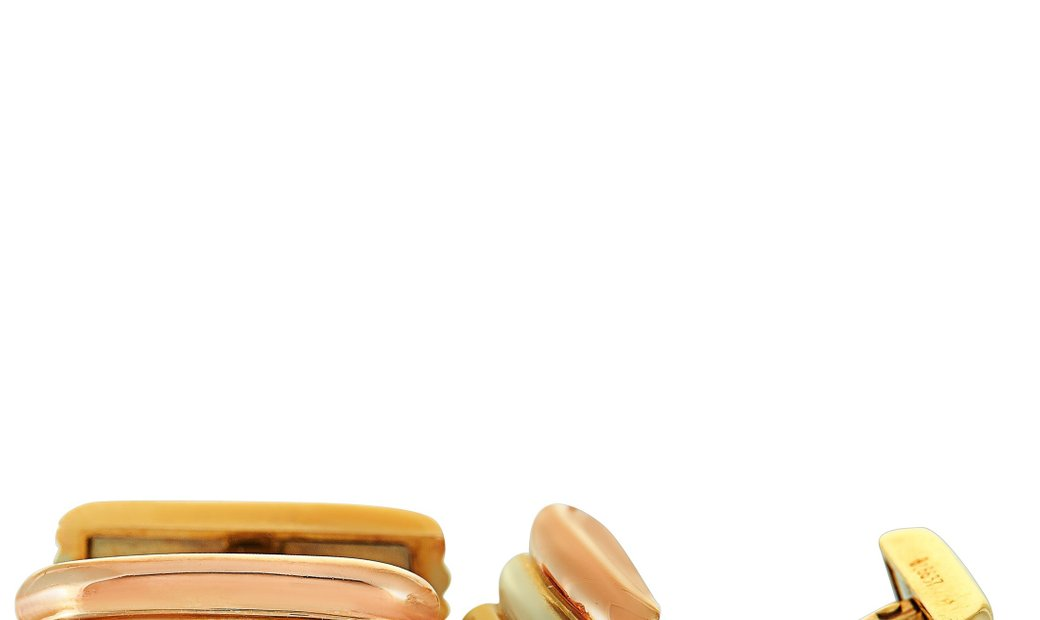 Cartier Cartier Tricolor 18K Yellow, White and Rose Gold Vintage Cufflinks