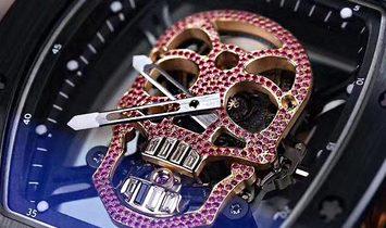 Richard Mille [UNIQUE] RM 52-01 Red Diamonds Skull Tourbillon