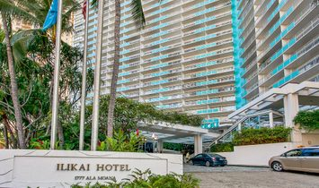 Ilikai Apartment Building Condo, Waikiki, Ocean Views, Sunset Views