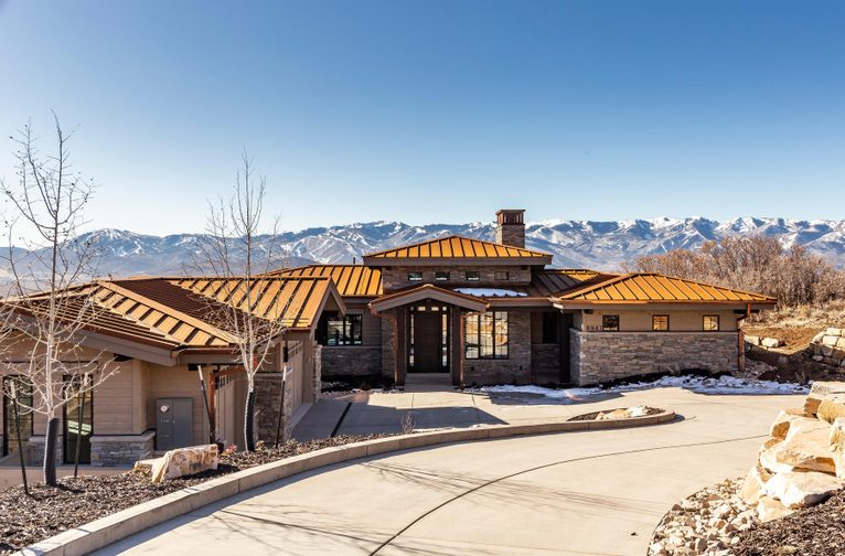 Promontory's Refined 5 Br Craftsman Home  Just Completed