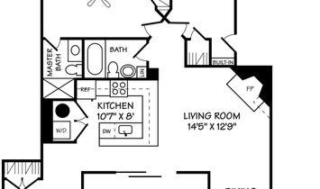 Walkable Woodley Park Two Bedroom