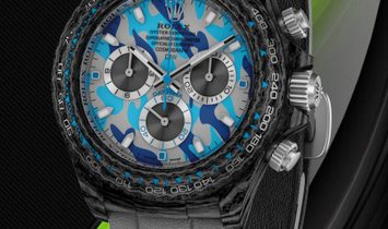 "Rolex DiW Cosmograph NTPT Carbon Daytona ""MILITARY BLUE"" (Retail:US$52,000)"