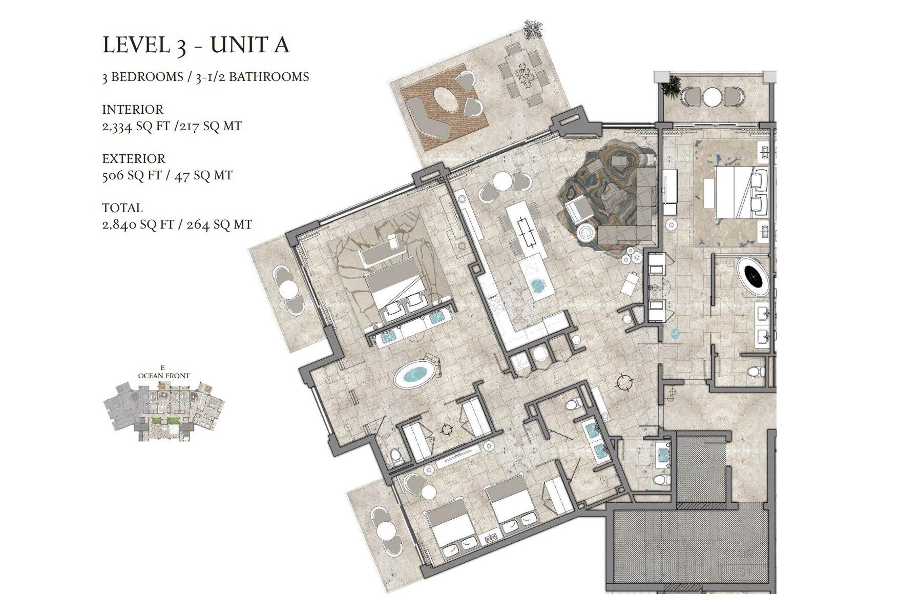 The Residences At St. Regis Bermuda Unit 1 C, 2 A, 2 C, In