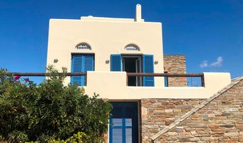 Andros, villa with sea view and pool