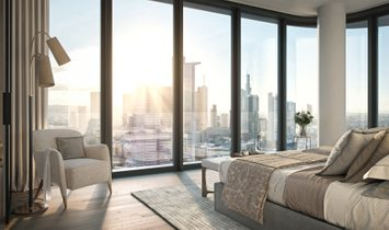 Urban living in Germany's tallest residential building: Stylish and elegant 3-room apartment