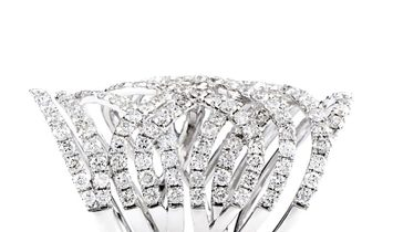 LB Exclusive LB Exclusive 18K White Gold Diamond Openwork Band Ring
