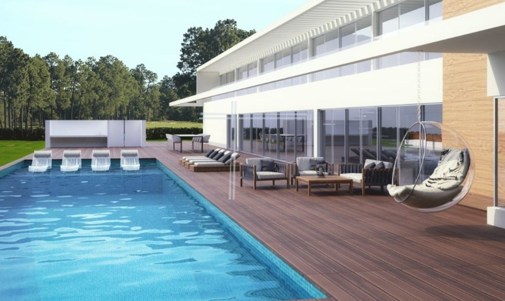 Detached house T6, plot 2100m2, swimming pool-Herdade da Aroeira