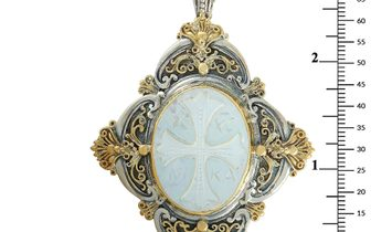 Konstantino Konstantino 18K Yellow Gold and Sterling Silver Mother of Pearl Pendant