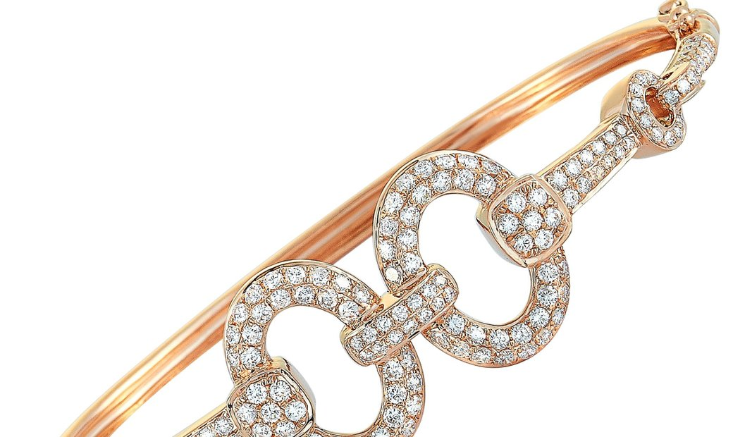 LB Exclusive LB Exclusive 18K Rose Gold ~1.85ct Diamond Bangle Bracelet