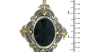 Konstantino Konstantino 18K Yellow Gold and Sterling Silver Onyx Pendant