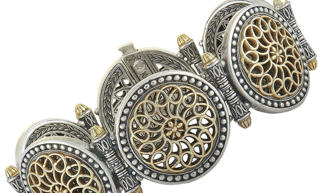 Konstantino Konstantino 18K Yellow Gold and Sterling Silver Bracelet