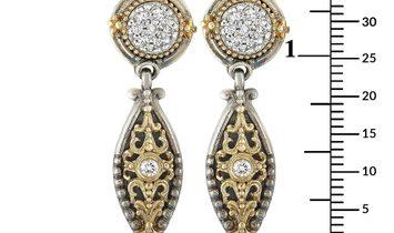 Konstantino Konstantino 18K Yellow Gold and Sterling Silver Diamond Earrings