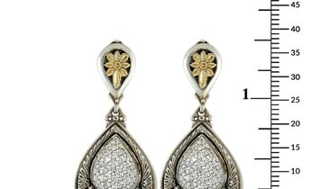 Konstantino Konstantino 18K Yellow Gold and Sterling Silver Diamond and Mother of Pearl Earrings