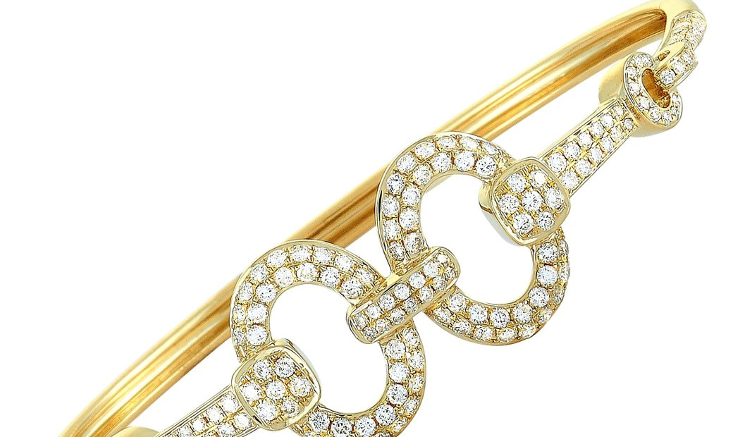 LB Exclusive LB Exclusive 18K Yellow Gold ~1.85ct Diamond Bangle Bracelet