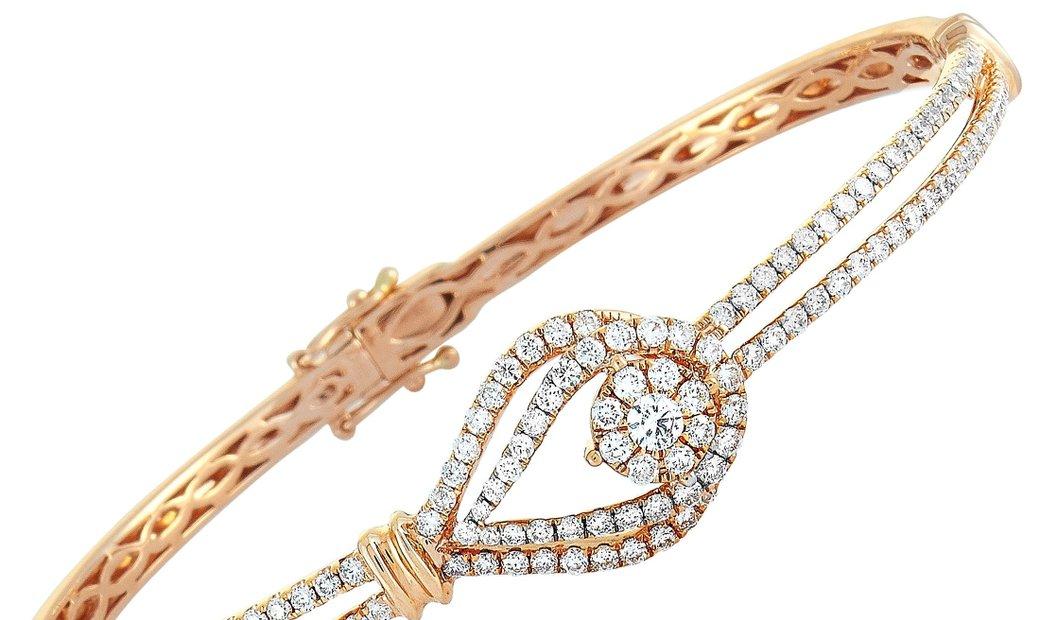 LB Exclusive LB Exclusive 18K Rose Gold ~1.6ct Diamond Bracelet