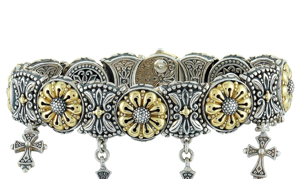 Konstantino Konstantino 18K Yellow Gold and Sterling Silver Bracelet