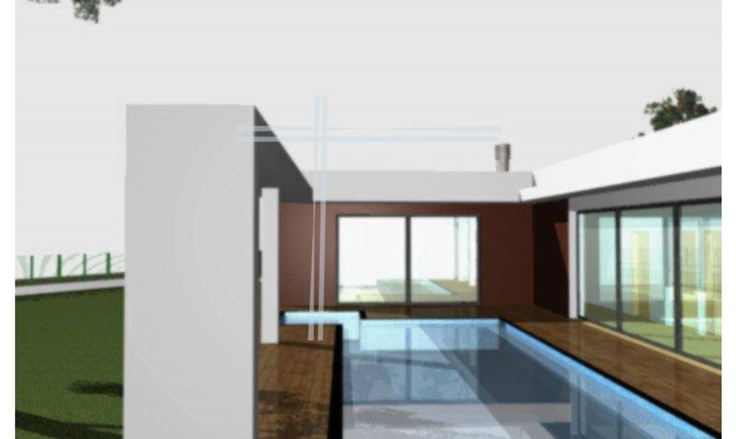 Single storey detached house 4 bedrooms, new, in Herdade da Aroeira of 2009, unfinished.