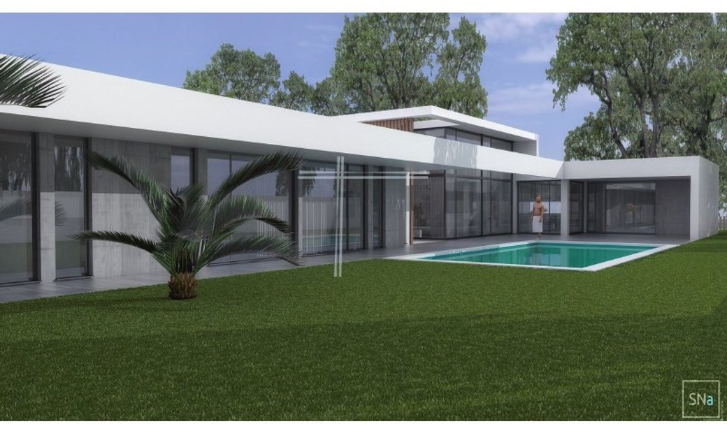 Detached house T6, in plant, contemporary architecture, gated-Herdade da Aroeira