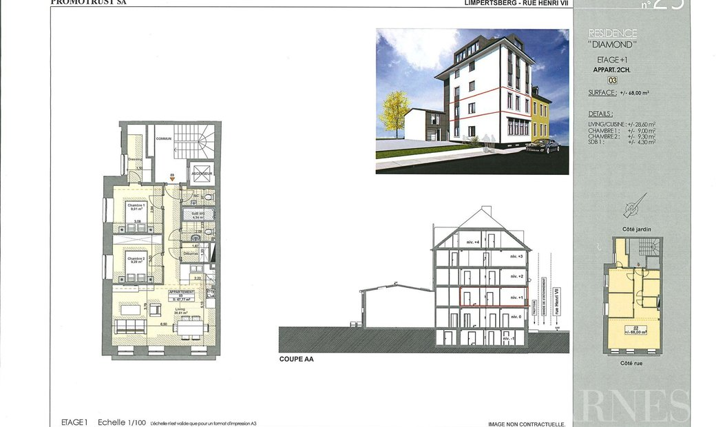Sale - Apartment Luxembourg (Limpertsberg)