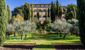 Majestic Palace At The Summit Of The Medieval Village Of Oliveto.