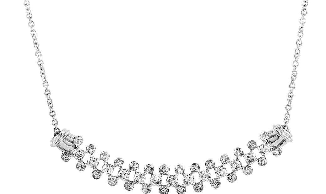 LB Exclusive LB Exclusive 18K White Gold Diamond Necklace